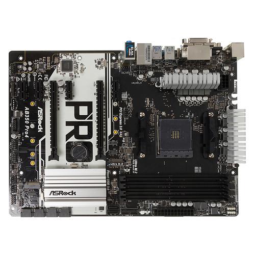 Материнская плата ASROCK AB350 PRO4, SocketAM4, AMD B350, ATX, Ret цена и фото
