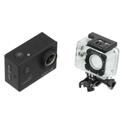 Экшн-камера SJCAM SJ4000 Wi-Fi 1080p, WiFi, черный [sj4000wifiblack] hk1080ir2 waterproof 1080p hd 1 3 cmos 1 0mp cctv camera w 2 ir led silver