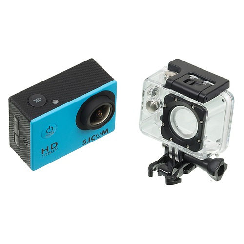 Экшн-камера SJCAM SJ4000 1080p, синий [sj4000blue] hk1080ir2 waterproof 1080p hd 1 3 cmos 1 0mp cctv camera w 2 ir led silver