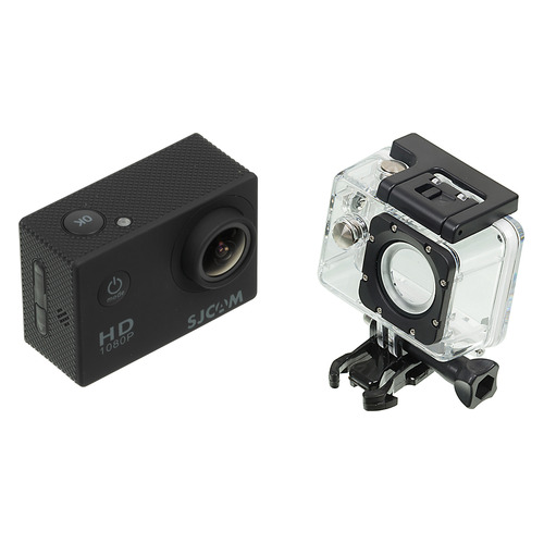 Экшн-камера SJCAM SJ4000 1080p, черный [sj4000black] hk1080ir2 waterproof 1080p hd 1 3 cmos 1 0mp cctv camera w 2 ir led silver