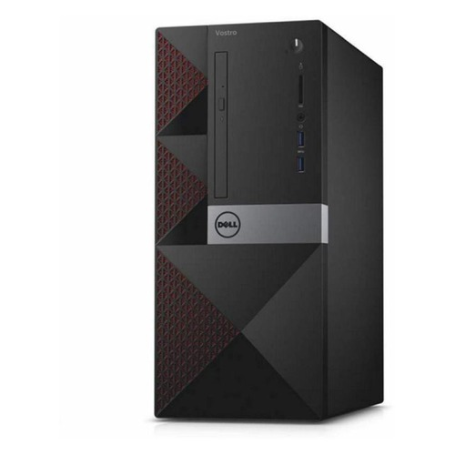 Компьютер DELL Vostro 3667, Intel Core i5 6400, DDR4 4Гб, 1000Гб, Intel HD Graphics 530, DVD-RW, CR, Linux, черный [3667-8145] top quality new stainless steel strap 18mm 13mm flat straight end metal bracelet watch band silver gold watchband for brand