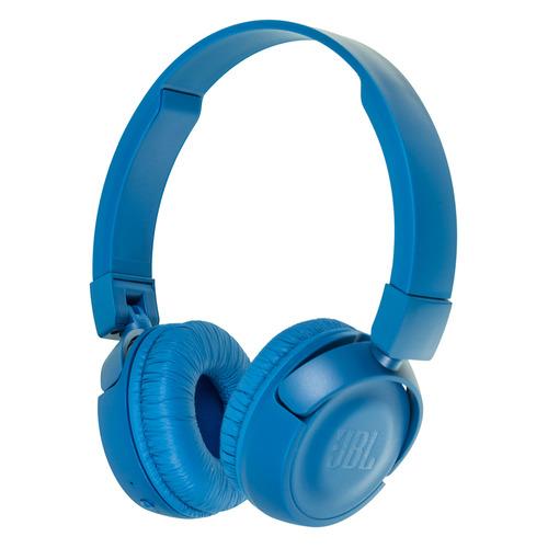 Наушники с микрофоном JBL T450BT, Bluetooth, накладные, синий [jblt450btblu] наушники с микрофоном jbl jr300 накладные blue