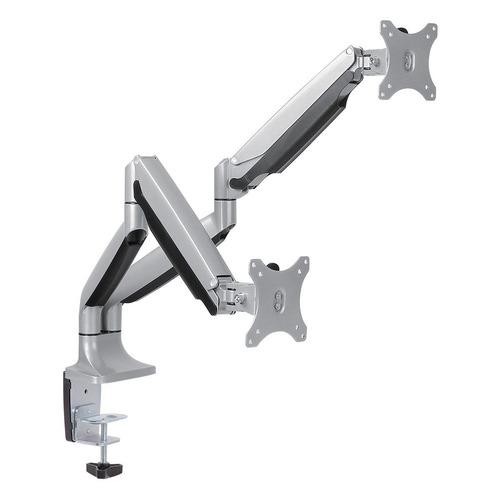 Кронштейн для мониторов Arm Media LCD-T32 серебристый 15-32 макс.18кг настольный поворот и наклон