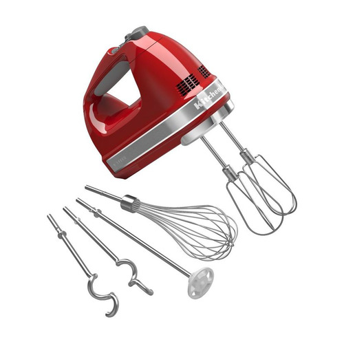 цена Миксер KITCHENAID 5KHM9212, ручной, красный [5khm9212eer] онлайн в 2017 году