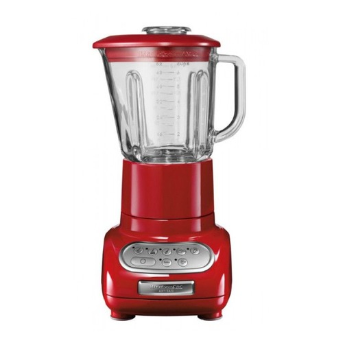 Блендер KITCHENAID 5KSB5553, стационарный, белый/красный стационарный