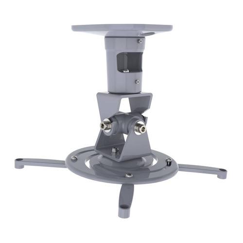Фото - Кронштейн для проектора Cactus CS-VM-PR01-AL серебристый макс.22кг потолочный поворот и наклон кронштейн для проектора cactus cs vm pr01 bk черный макс 23кг настенный и потолочный поворот и наклон