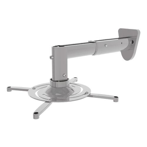Фото - Кронштейн для проектора Cactus CS-VM-PR05B-AL серебристый макс.10кг настенный и потолочный поворот и карниз потолочный пластиковый dda поворот акант двухрядный серебро 2 8