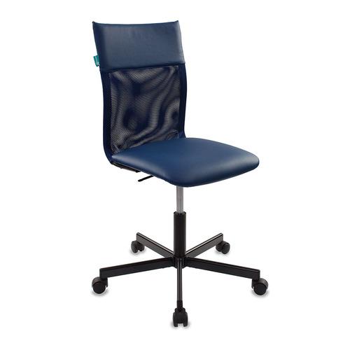 Кресло БЮРОКРАТ CH-1399, на колесиках, искусственная кожа, синий [ch-1399/blue] кресло бюрократ ch 1399 на колесиках искусственная кожа серый [ch 1399 grey]