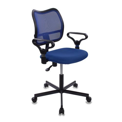 Кресло БЮРОКРАТ CH-799M, на колесиках, ткань, синий [ch-799m/bl/tw-10] кресло бюрократ ch 799m bl tw 10