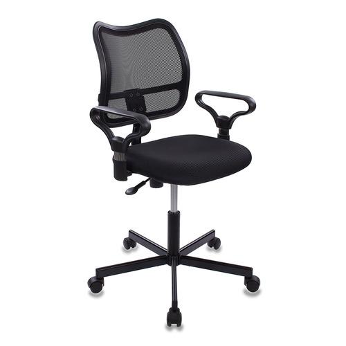 Кресло БЮРОКРАТ CH-799M, на колесиках, ткань, черный [ch-799m/tw-11] кресло бюрократ ch 799m bl tw 10
