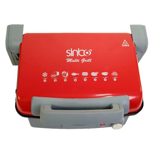 Электрогриль SINBO SSM 2536, красный и черный sinbo ssm 2523 серебристый