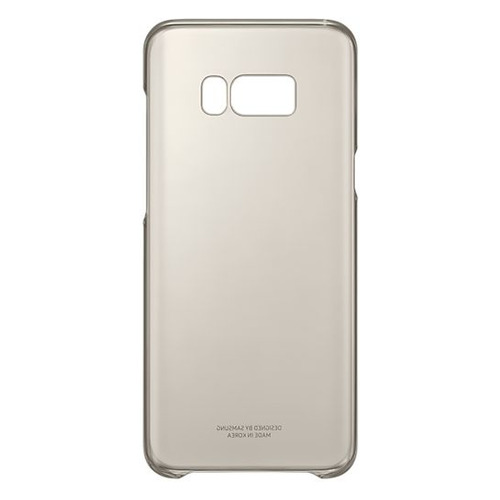 Чехол (клип-кейс) SAMSUNG Clear Cover, для Samsung Galaxy S8+, золотистый/прозрачный [ef-qg955cfegru] чехол для смартфона samsung для galaxy j7 2016 slim cover прозрачный ef aj710ctegru ef aj710ctegru