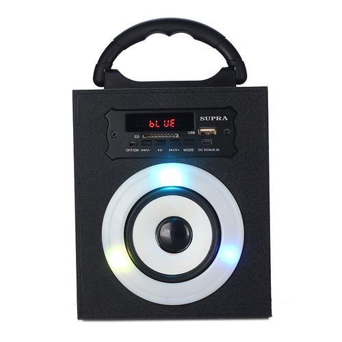 Аудиомагнитола SUPRA BTS-550, черный аудиомагнитола supra bts 580 черный