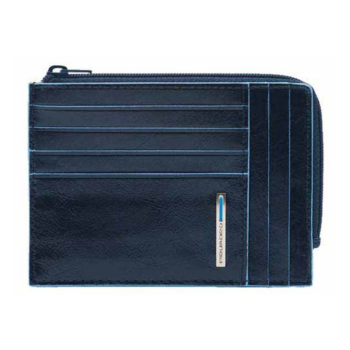 Чехол для кредитных карт Piquadro Blue Square PU1243B2R/BLU2 синий натур.кожа чехол для кредитных карт piquadro pulse pu1243p15s blu2 синий натур кожа