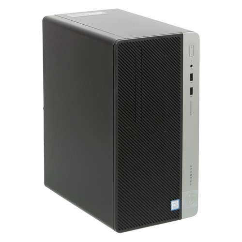 Компьютер HP ProDesk 400 G4, Intel Core i3 7100, DDR4 4Гб, 500Гб, Intel HD Graphics 630, DVD-RW, Windows 10 Professional, черный [1ey27ea] компьютер hp prodesk 400 g4 intel core i5 6500 ddr4 4гб 500гб intel hd graphics 530 dvd rw windows 10 professional черный [1jj52ea]