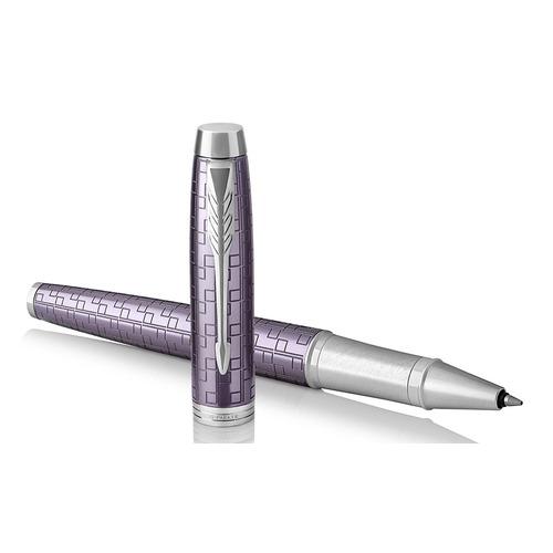 Ручка роллер Parker IM Premium T324 (1931639) Dark Violet CT F черные чернила подар.кор.