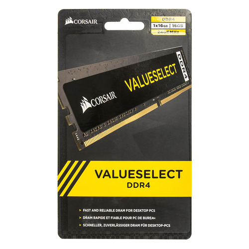 Модуль памяти CORSAIR Value Select CMV16GX4M1A2400C16 DDR4 - 16Гб 2400, DIMM, Ret elsa shoes сандалии