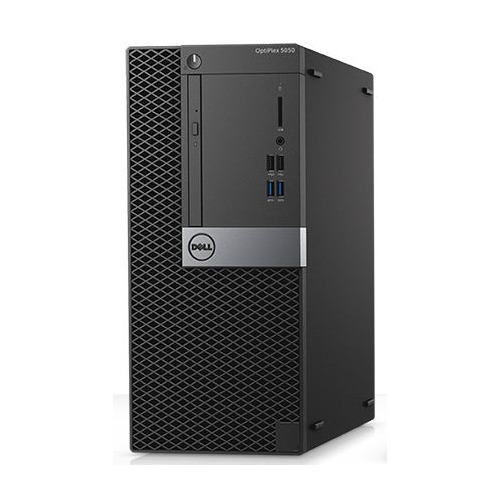 Компьютер DELL Optiplex 5050, Intel Core i7 7700, DDR4 8Гб, 1000Гб,  HD Graphics 630, DVD-RW, Windows  Professional, черный и серебристый [-8299]