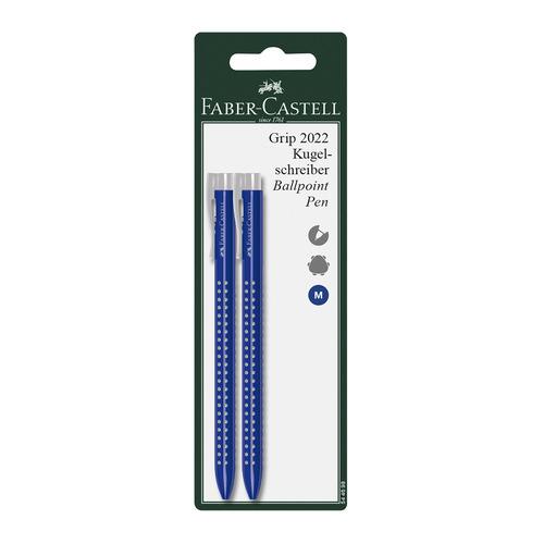 цена Ручка шариковая Faber-Castell GRIP 2022 (544698) авт. корпус пластик синие чернила блистер (2шт) 5 шт./кор. онлайн в 2017 году