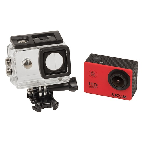 Экшн-камера SJCAM SJ4000 1080p, красный [sj4000red] hk1080ir2 waterproof 1080p hd 1 3 cmos 1 0mp cctv camera w 2 ir led silver