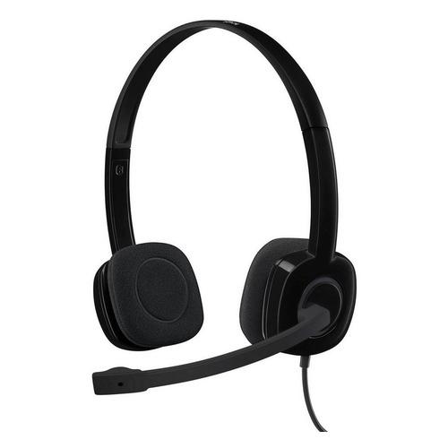 Гарнитура LOGITECH H151, для контактных центров, накладные, черный [981-000589] цена