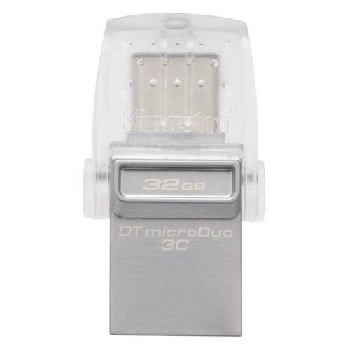 Флешка USB KINGSTON DataTraveler microDuo 32Гб, USB3.0, черный [dtduo3c/32gb] цена и фото
