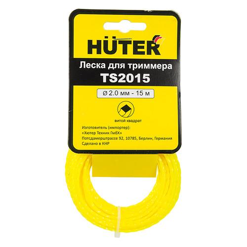 Фото - Леска для садовых триммеров HUTER TS2015, 2мм, 15м [71/1/11] леска для триммеров армированная 3мм 15м круг