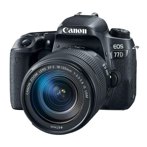 цена на Зеркальный фотоаппарат CANON EOS 77D kit ( EF-S 18-135mm f/3.5-5.6 IS USM), черный