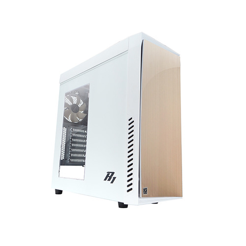 Корпус ATX ZALMAN R1, Midi-Tower, без БП, белый корпус zalman mid tower r1 white