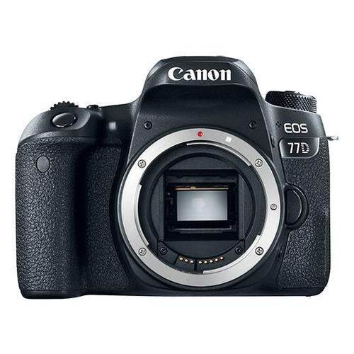 Зеркальный фотоаппарат CANON EOS 77D body, черный цена и фото