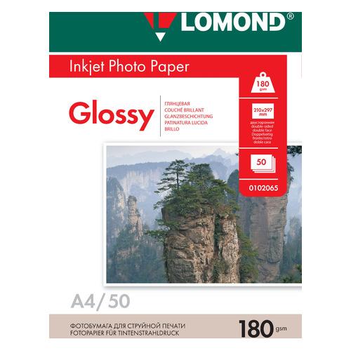 Фотобумага Lomond 0102065 A4/180г/м2/50л./белый глянцевое/глянцевое для струйной печати фотобумага lomond а4 240г м2 глянцевая 50л 102135
