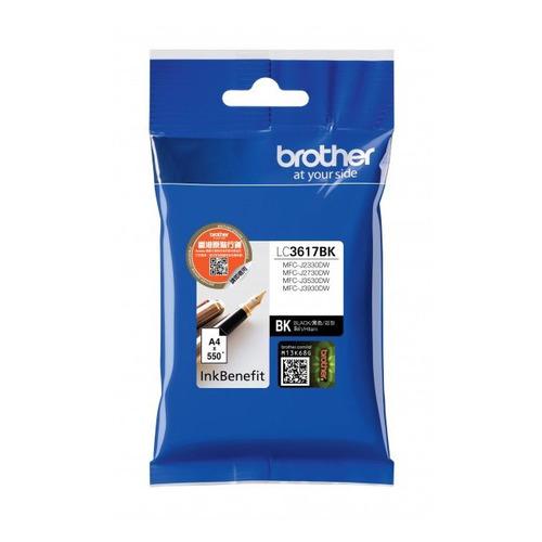 Картридж BROTHER LC3617BK, черный картридж brother lc3619xlm пурпурный magenta 1500стр для brother mfc j2330d wj3530dw j3930dw