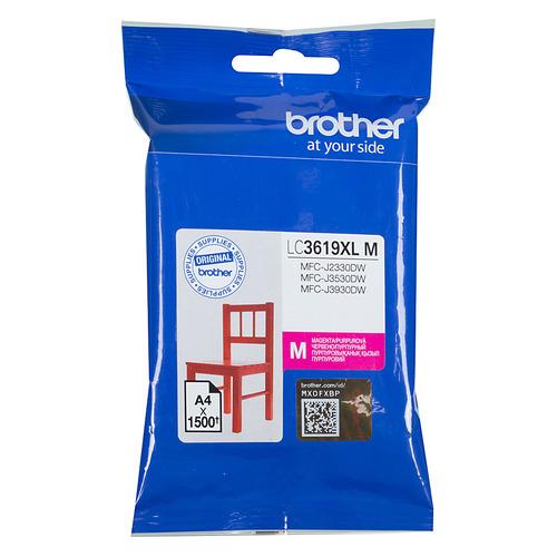Картридж BROTHER LC3619XLM, пурпурный картридж brother lc3619xlm пурпурный magenta 1500стр для brother mfc j2330d wj3530dw j3930dw