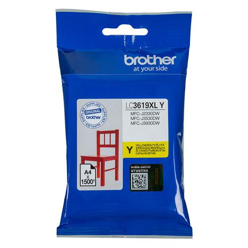 Картридж BROTHER LC3619XLY, желтый картридж brother lc3619xly 1500 стр