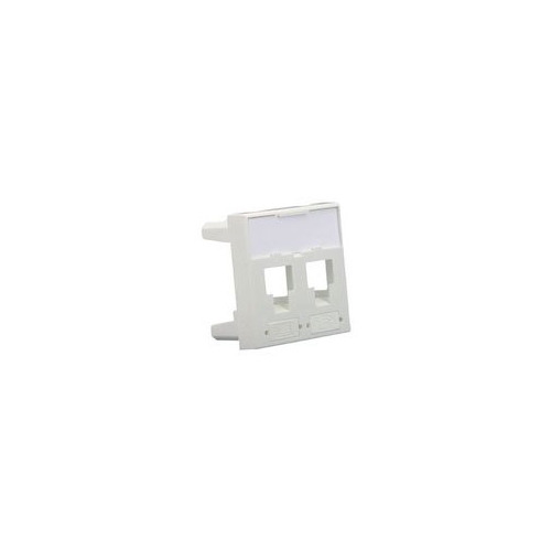 лучшая цена Вставка Corning (7000033711) прямая 45x45 2xKeystone ПВХ белый