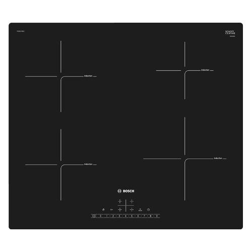 Индукционная варочная панель BOSCH PUE611FB1E, индукционная, независимая, черный варочная панель bosch pch6a6b90r независимая черный