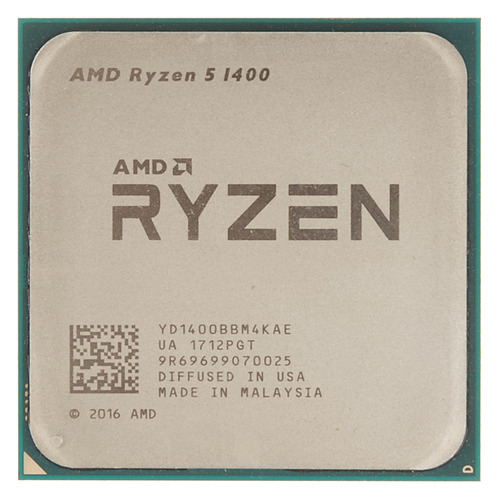 Процессор AMD Ryzen 5 1400, SocketAM4 OEM [yd1400bbm4kae] free shipping 500pieces fuel injection corrugated rubber seals o ring size16 9 5 86mm for oem 23250 0c020 ay s4007