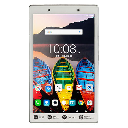 Планшет LENOVO Tab 4 TB-8504X, 2GB, 16GB, 3G, 4G, Android 7.0 белый [za2d0059ru] цена