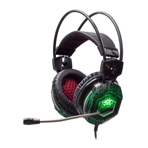 Фото - Гарнитура игровая OKLICK HS-L500G TOXIC, для компьютера, мониторные, черный гарнитура игровая oklick hs l330g nightmare для компьютера мониторные черный [n 6]