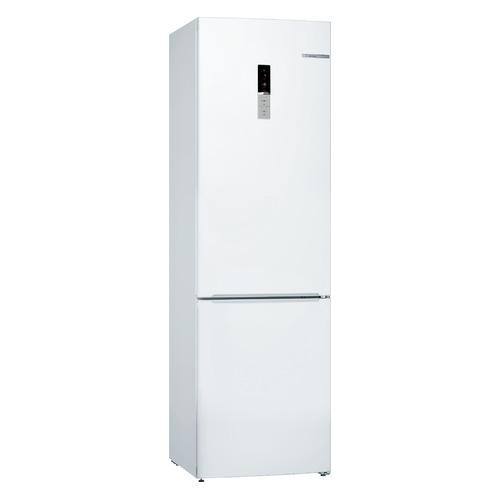 Холодильник BOSCH KGE39XW2AR, двухкамерный, белый холодильник bosch kgn39xg34r двухкамерный золотистый