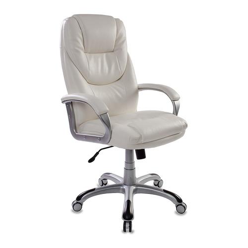 Кресло руководителя БЮРОКРАТ T-9905, на колесиках, искусственная кожа, белый [t-9905s/white]