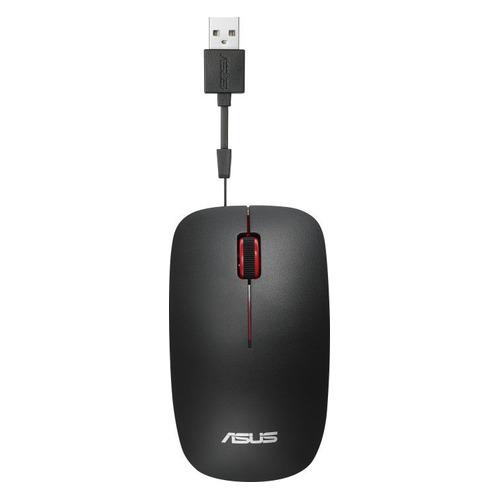 лучшая цена Мышь ASUS UT300, оптическая, проводная, USB, черный [90xb0460-bmu000]