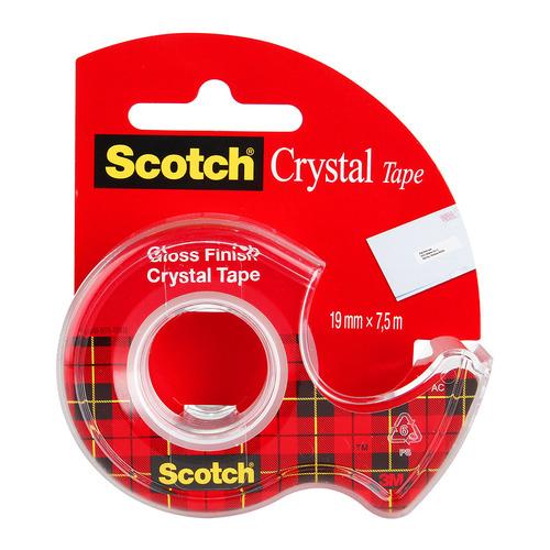 Упаковка клейкой ленты 3M Scotch Crystal 6-1975D, 19мм, 7.5м, 7100093859 12 шт./кор.