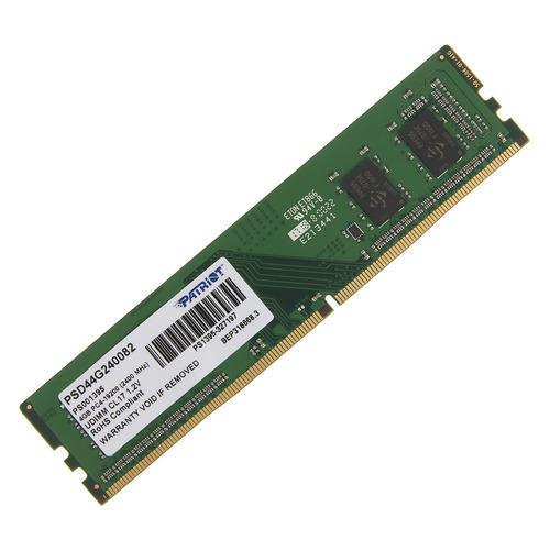 Модуль памяти PATRIOT PSD44G240082 DDR4 - 4Гб 2400, DIMM, Ret цена
