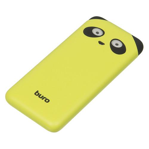 цена Внешний аккумулятор (Power Bank) BURO RA-10000PD-GN Panda, 10000мAч, лайм онлайн в 2017 году