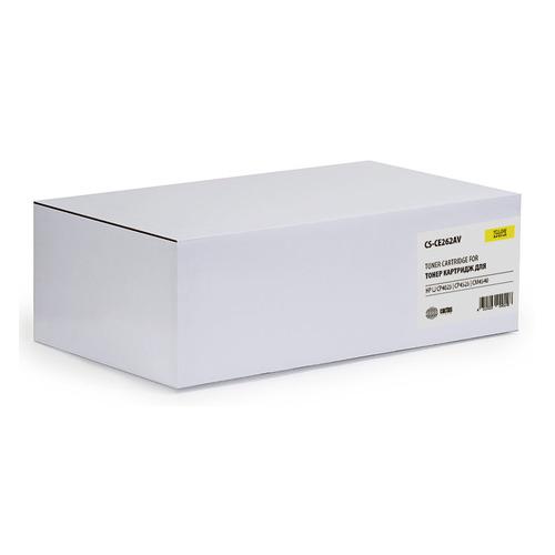 Картридж CACTUS CS-CE262AV, желтый картридж лазерный cactus cs ce263av пурпурный 11000стр для hp lj cp4025 cp4525