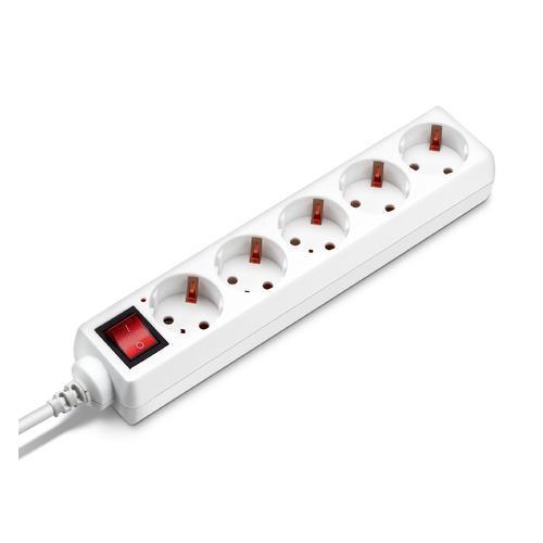 Сетевой удлинитель BURO BU-PS5.1/W, 1.5м, белый сетевой удлинитель buro bu psl3 3 w 3м белый