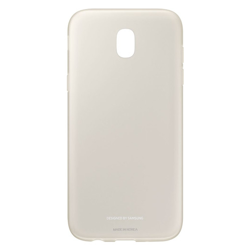 Чехол (клип-кейс) SAMSUNG Jelly Cover, для Samsung Galaxy J5 (2017), золотистый [ef-aj530tfegru]