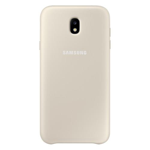 Чехол (клип-кейс) SAMSUNG Dual Layer Cover, для Samsung Galaxy J5 (2017), золотистый [ef-pj530cfegru] цена и фото