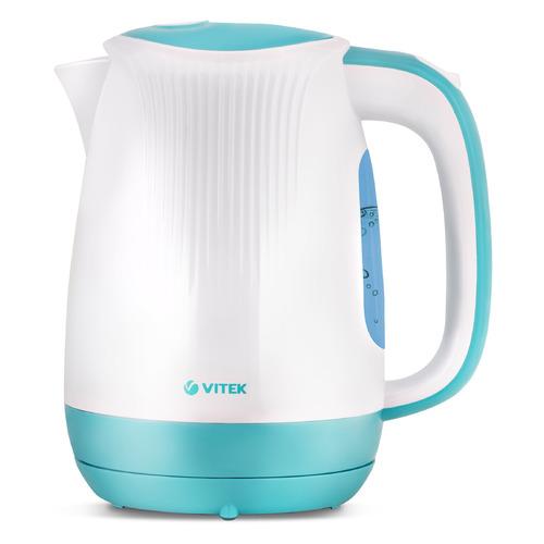 Чайник электрический VITEK VT-7059, 2200Вт, белый и голубой чайник электрический vitek vt 1164 2200вт серый